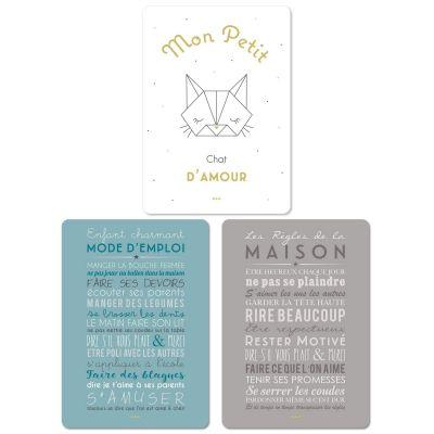 Lot de 3 cartes Petit chat (15 x 21 cm) Mes Mots Déco