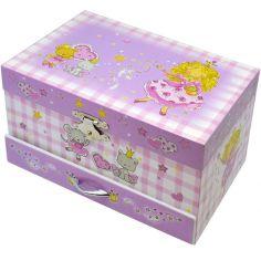 Boîte à bijoux Lili fée mauve