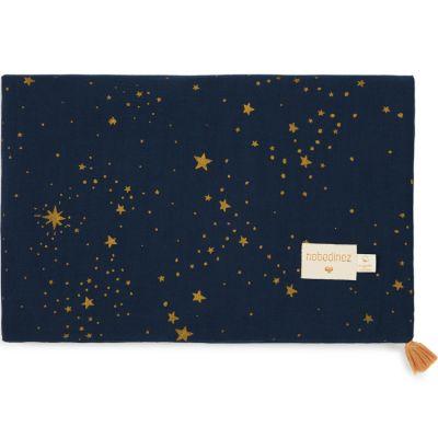 Couverture d'été bébé Gold stella bleu (70 x 100 cm)  par Nobodinoz