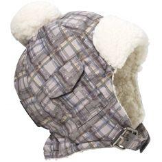 Bonnet chapka carreaux French Check (0-6 mois)