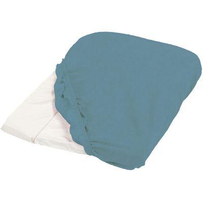 Housse de matelas à langer bleu canard (50 x 75 cm)