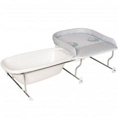 Table à langer avec support baignoire Varix mouton