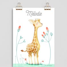 Affiche A4 Girafe (personnalisable)