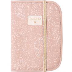 Protège carnet de santé Poema coton bio White bubble Misty pink