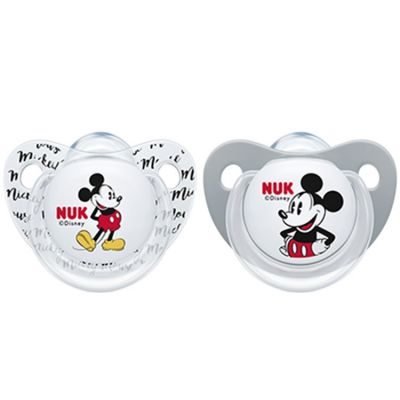 Lot de 2 sucettes physiologiques Mickey (6-18 mois)
