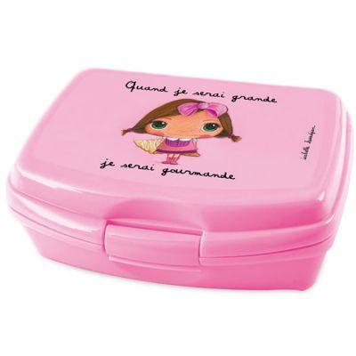 Boîte à goûter Quand je serai grande je serai gourmande  par Isabelle Kessedjian