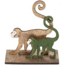 Décoration de table singes en bois Jungle Fever  par Arty Fêtes Factory