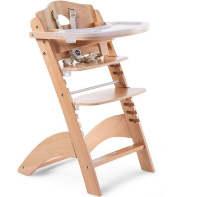 Chaise haute évolutive en bois Lambda 3 naturel  par Childhome
