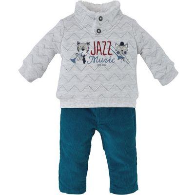 Ensemble pantalon 2 pièces Jazz Music turquoise (12 mois)  par Sucre d'orge