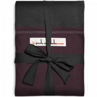 Echarpe de portage L'Originale anthracite poche prune  par Je Porte Mon Bébé