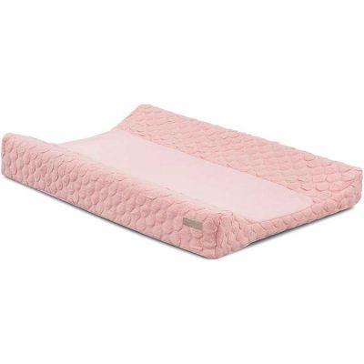 Housse de matelas à langer Fancy knit rose poudré (50 x 70 cm)
