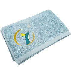 Serviette de bain bleue Renard (70 x 140 cm)