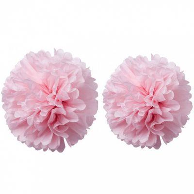 Pompons papier de soie rose (2 pièces)  par Arty Fêtes Factory
