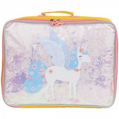 Petite valise à paillettes Licorne