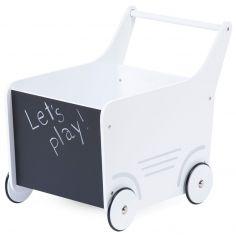Chariot de marche en bois blanc