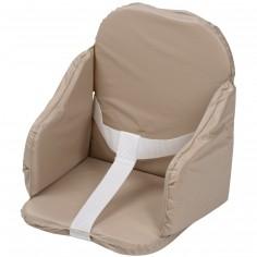 Coussin de chaise pvc à sangles taupe