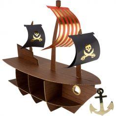 Présentoir à gâteaux en 3D Bateau pirate