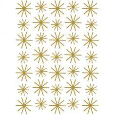 Stickers muraux Nordic flocons dorés