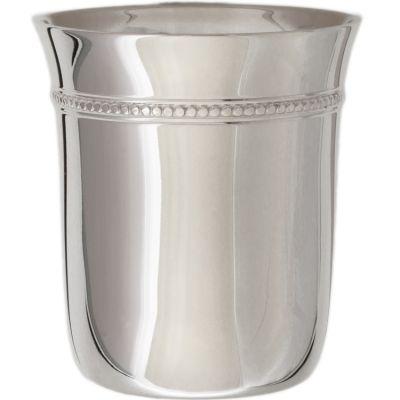 Timbale Evasée Perles en métal argenté dans son coffret (personnalisable)  par Daniel Crégut