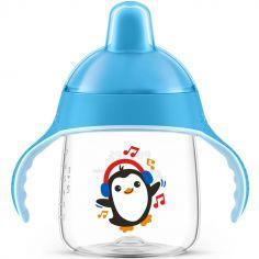 Tasse à bec anti-fuites bleu (260 ml)