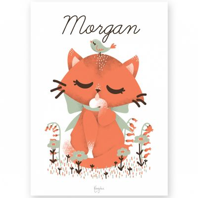 Affiche A4 Les Animignons le chat (personnalisable)  par Kanzilue
