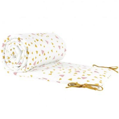 dc4696b03956 Tour de lit Constantinopla Confettis rose et jaune miel