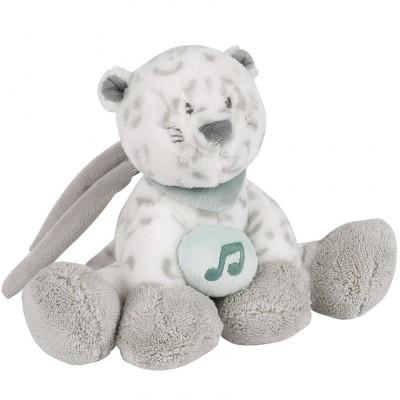 Mini doudou musical à suspendre léopard des neiges Léa (24 cm) Nattou