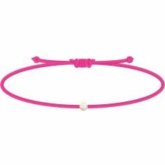Bracelet diamant Mon Petit Diam's rose fluo (plaqué or jaune)