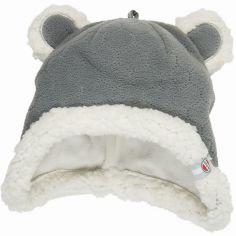 Bonnet ours gris Botanimal (0-3 mois)