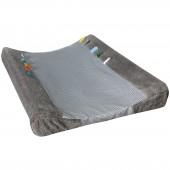 Housse de matelas à langer Happy Dressing Storm grey (45 x 70 cm) - Snoozebaby
