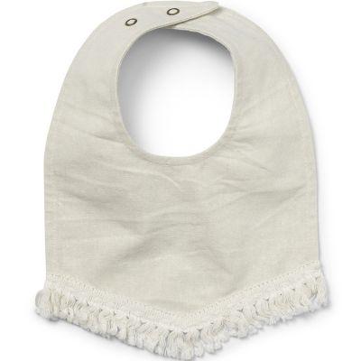 Bavoir bandana à franges Lilly White  par Elodie Details