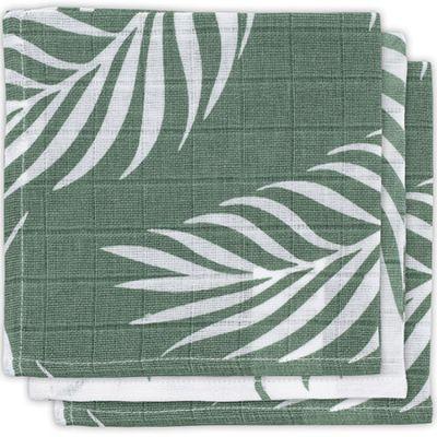 Lot de 3 minis langes Nature vert cendre (31 x 31 cm)  par Jollein