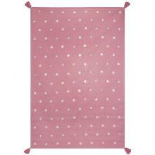Tapis rose à étoiles grises (110 x 160 cm)  par Art for Kids