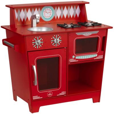 Cuisine en bois rouge  par KidKraft