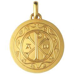 Médaille Chrisme 18 mm (or jaune 750°)