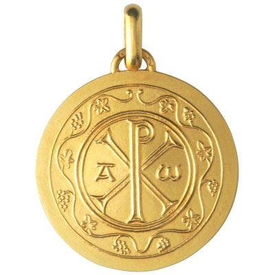 Médaille Chrisme 18 mm (or jaune 750°)  par Monnaie de Paris