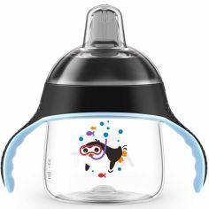 Tasse à bec anti-fuites noir (200ml)