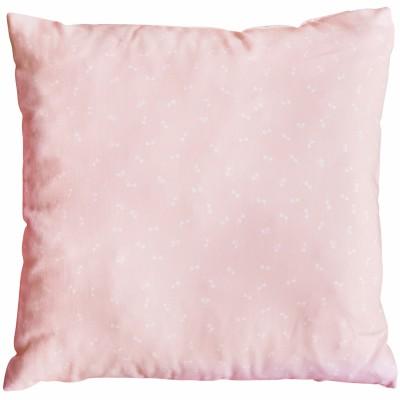 Coussin carré décoratif Pink Bows (26 x 26 cm)  par Les Rêves d'Anaïs