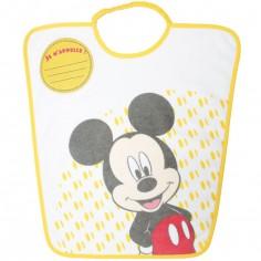 Bavoir passe-tête Mickey Je m'appelle jaune