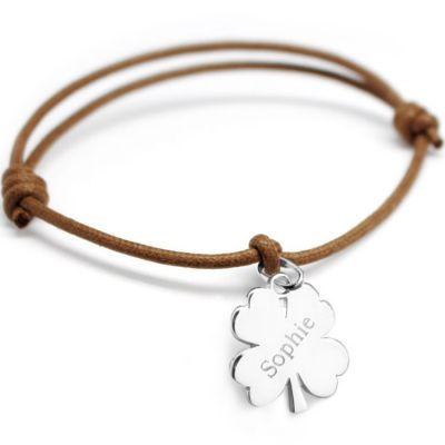 Bracelet cordon Lucky (argent 925°)   par Petits trésors
