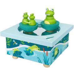 Boîte à musique magnétique famille des grenouilles