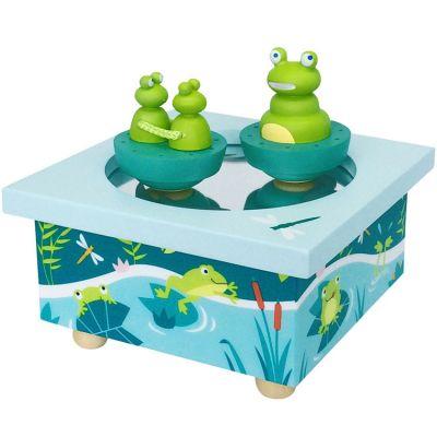 Boîte à musique magnétique famille des grenouilles  par Trousselier