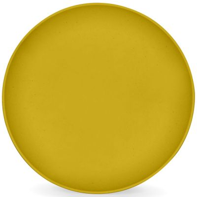 Assiette plate en maïs jaune mimosa  par Signature Label Tour