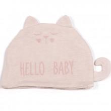 Bonnet de naissance Hello Baby rose clair  par Walking Mum