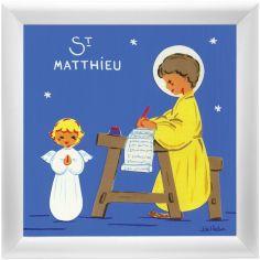 Tableau religieux St Matthieu Saint Patron personnalisable (15 x 15 cm)