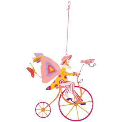 Mobile décoratif Triplette ailée rose L'oiseau bateau