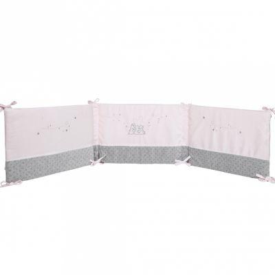 tour de lit poudre d 39 toiles rose pour lits 60 x 120 cm et 70 x 140 cm par noukie 39 s. Black Bedroom Furniture Sets. Home Design Ideas