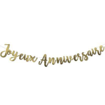 Guirlande Doré Joyeux anniversaire  par Arty Fêtes Factory