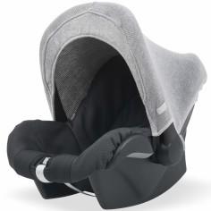 Capote pour maxi cosy Natural knit gris clair