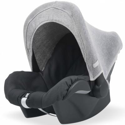 capote pour maxi cosy natural knit gris clair jollein. Black Bedroom Furniture Sets. Home Design Ideas